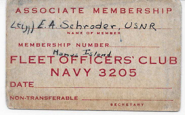 Officers' Club Membership Cards WWII Pacific Theater – Casks
